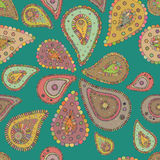 Seamless background in vector. Paisley colorful pattern Royalty Free Stock Images