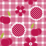 Seamless background, vector pattern for cushion, pillow, bandanna, kerchief, shawl fabric print. Texture for clothes and bedclothe Stock Photos