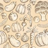 Seamless background vegetable 2 Stock Photography