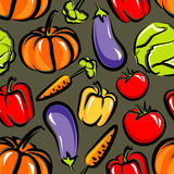 Seamless background with vegetables Royalty Free Stock Images