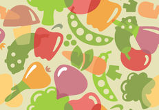 Seamless background of vegetables Royalty Free Stock Photo