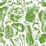 Seamless background with vegetables Stock Photos