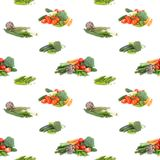 Seamless background of veggies on white. Seamless background of green and red veggies on white stock photos