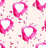 Seamless background with watercolor hearts royalty free illustration