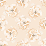 Seamless background with watercolor roses. Seamless pattern with watercolor flowers. Rose. Vector. Hand drawn Royalty Free Stock Photography