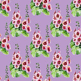 Seamless background with watercolor roses. Seamless pattern with watercolor flowers. Rose. Vector. Hand drawn Stock Image