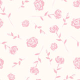 Seamless background of watercolor roses. Seamless  pattern with watercolor pink roses. Can be used for fabrics, wallpapers, scrap-booking, etc Stock Photos