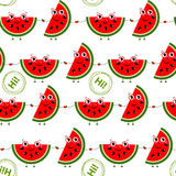 Seamless background with watermelon slices. Stock Photography