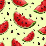 Seamless background with watermelon slices Royalty Free Stock Photography