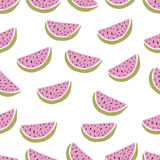 Seamless background with watermelon slices. Vector Royalty Free Stock Photo