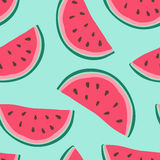 Seamless background with watermelon slices. Vector illustration. royalty free illustration