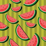 Seamless background with watermelons royalty free stock photography