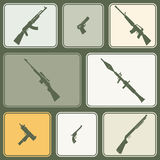 Seamless background with weapons and arms Stock Photo