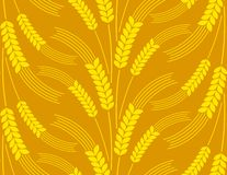 Seamless background with wheat. Stock Photography