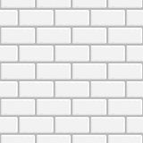 Seamless background white brick wall. White brick wall seamless background. Vector texture EPS 10 Royalty Free Stock Photography