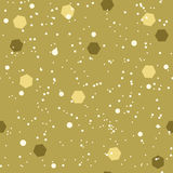 Seamless background with white, golden ochre and khaki confetti Stock Image