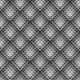 Seamless  background with white lace pattern on black background. Stock Image