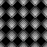 Seamless  background with white lace pattern on black background. Stock Photography