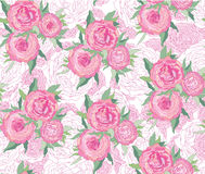 Seamless background with white and pink flowers Royalty Free Stock Image