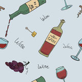 Seamless background with wine Stock Images