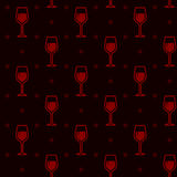 Seamless background with wineglasses Stock Image
