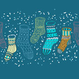 Seamless background with winter stockings. Seamless background with decorative winter stockings, illustration for design Royalty Free Stock Photo