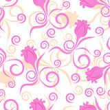 Seamless Background With Flower Pattern Stock Image