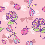 Seamless Background With Flowers Stock Images