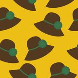 Seamless Background With Hats Royalty Free Stock Photo