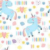 Seamless Background With Unicorns For Children Royalty Free Stock Images