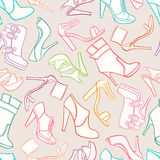Seamless background with womens shoes Royalty Free Stock Images