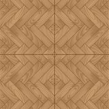 Wooden parquet floor with natural pattern Royalty Free Stock Photo