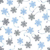 Seamless background with wooden snowflakes on white Royalty Free Stock Photography