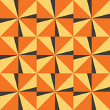 Seamless background with yellow orange triangles.  Royalty Free Stock Photography