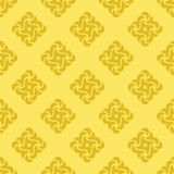 Seamless background from yellow shapes Royalty Free Stock Images