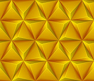 Seamless background with yellow triangles Stock Photography
