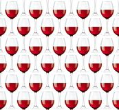 Wineglasses seamless background Royalty Free Stock Images