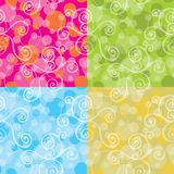 Seamless backgrounds. Collection of colored seamless backgrounds Stock Illustration