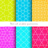 Seamless backgrounds in arabian style made of emboss geometric shapes. Islamic traditional pattern. stock illustration