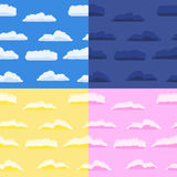 Seamless backgrounds with clouds Royalty Free Stock Images