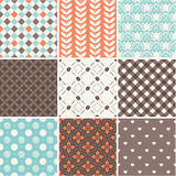 Seamless backgrounds collection Stock Photos