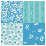 Seamless backgrounds Collection - Vintage Flowers Royalty Free Stock Image
