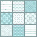 Seamless backgrounds Collection - Vintage Tile. Wonderful Seamless backgrounds Collection - Vintage Tile in in blue vector illustration