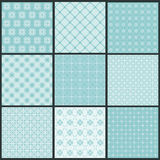Seamless backgrounds Collection - Vintage Tile. Wonderful Seamless backgrounds Collection - Vintage Tile in in blue royalty free illustration