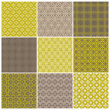 Seamless backgrounds Collection - Vintage Tile. For design and scrapbook - in stock illustration