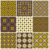Seamless backgrounds Collection - Vintage Tile. For design and scrapbook - in royalty free illustration