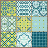 Seamless backgrounds Collection - Vintage Tile. For design and scrapbook - in vector illustration