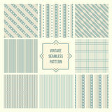 Seamless backgrounds collection, vintage tile. Seamless backgrounds collection, retro vintage tile royalty free illustration