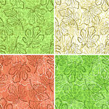 Seamless Backgrounds, Fig Leaves Royalty Free Stock Images