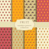 Seamless backgrounds of fruit Royalty Free Stock Photos